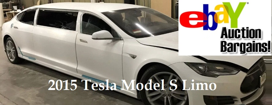 2015 Tesla Model S Limo On Sale on eBay - Bid Starts From $51,020